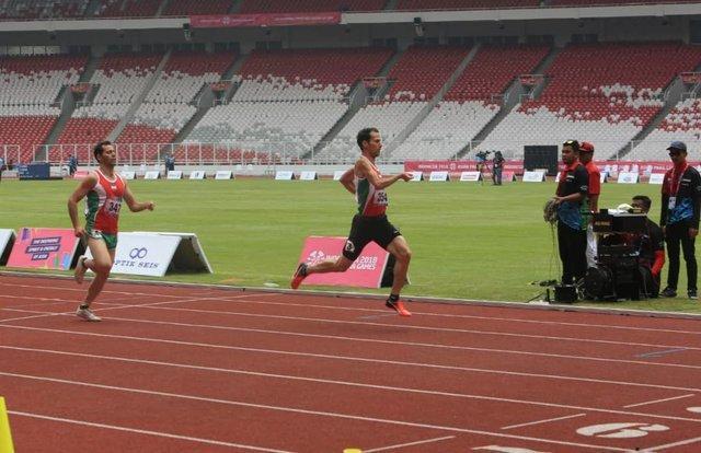 نشان برنز امین عبدل پور در ماده 1500 متر مردان