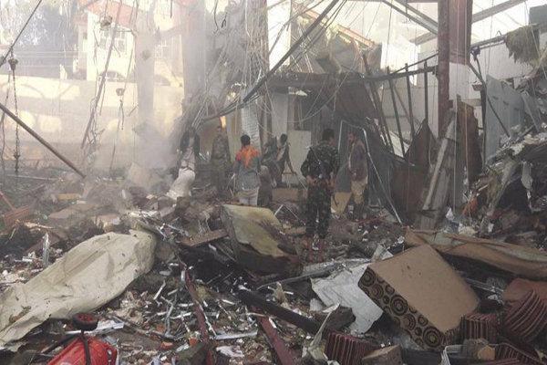 بمباران استان حجه یمن توسط جنگنده های متجاوز سعودی