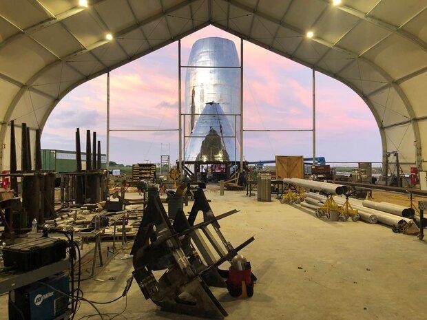 تصاویری از نمونه اولیه موشک استارشیپ منتشر شد