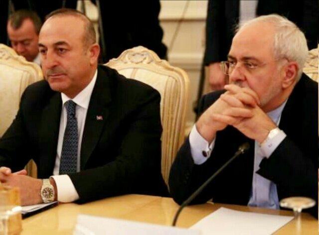 رایزنی وزیران امور خارجه ایران و ترکیه در خصوص آخرین تحولات شمال شرق سوریه