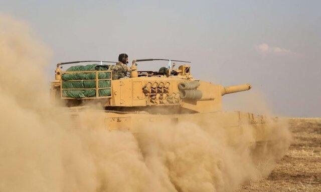 درگیری میان ارتش سوریه و نیروهای ترکیه در حومه رأس العین