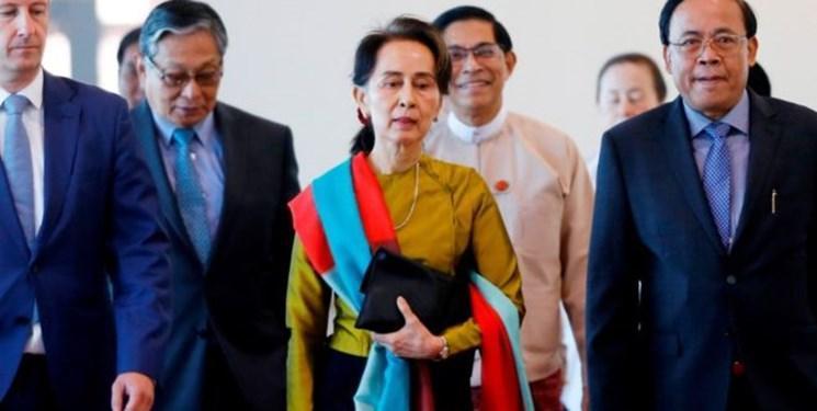 رهبر میانمار برای نسل کشی مسلمانان روهینگیا به دادگاه کیفری بین المللی رفت