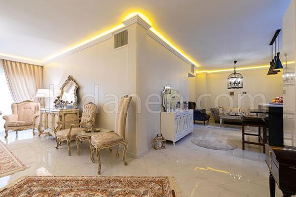 طراحی داخلی منزل مدرن و کلاسیک ساناز و حسام