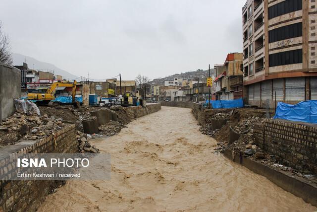 راه ارتباطی 15 روستای پلدختر قطع است، جاده پلدختر کوهدشت قطع شد