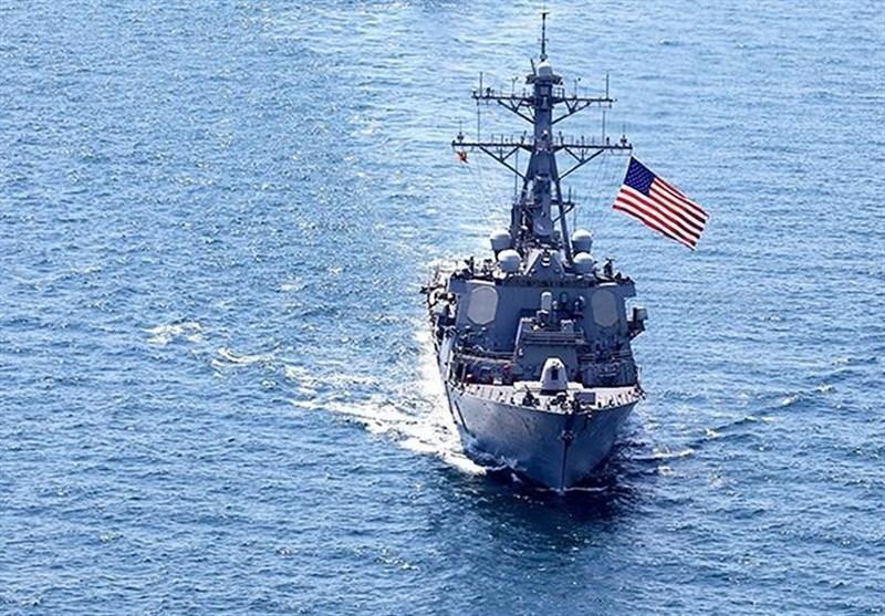 رزمایش مشترک نیروی دریایی و هوایی آمریکا در دریای سیاه