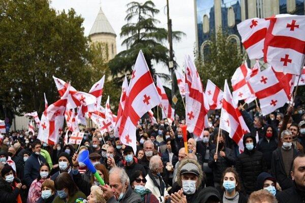 اعتراضات پساانتخاباتی به گرجستان رسید