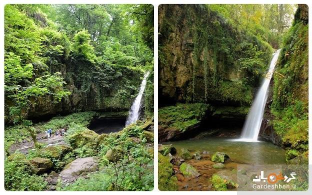 آبشار زمرد تالش؛در دل جنگل های سبز گیلان، عکس