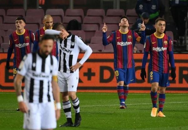 لالیگا، پیروزی بارسلونا با تک گل مسی