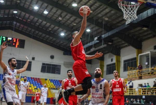 خبرنگاران بسکتبال گرگان در لیگ یک ایران به مشهد باخت