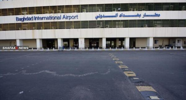 شلیک یک پهپاد ناشناس به دیوار پایگاه نظامی آمریکا در فرودگاه بغداد، عکس